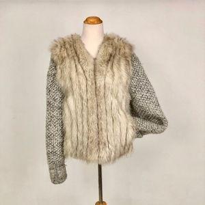 Blue Fox Fur Coat Jacket Vest Sweater - SML/MED